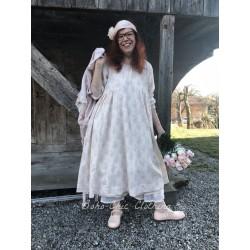 robe AGATHE coton fleurs rose