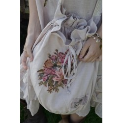 sac Natural sense en lin rose poudre