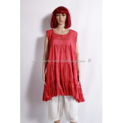 ANGELICA tunic in red
