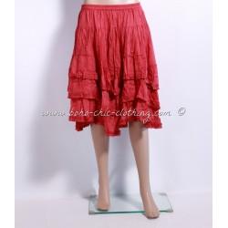 jupe DENISE rouge