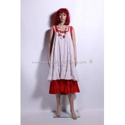 robe GITANA blanc cassé