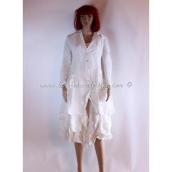 veste TYRA blanc cassé