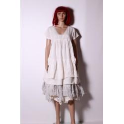 robe LATINA blanc cassé