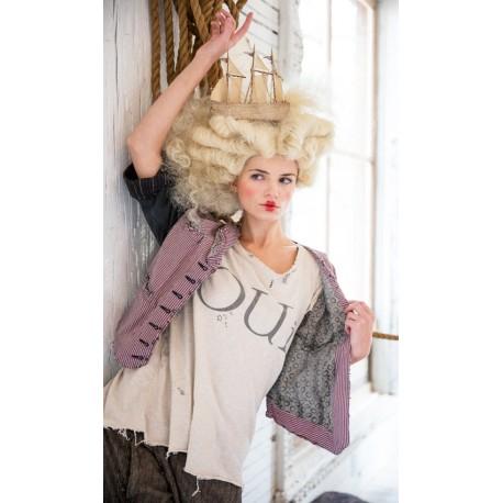 veste Le Cirque rayée violet