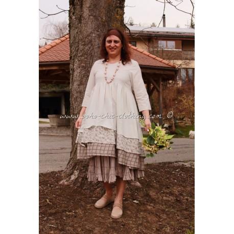robe PEMBA blanc cassé