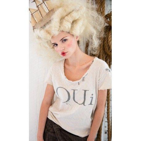T-shirt Oui beige