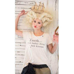 T-shirt J Kerouac crème
