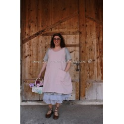apron dress BERTHE pink