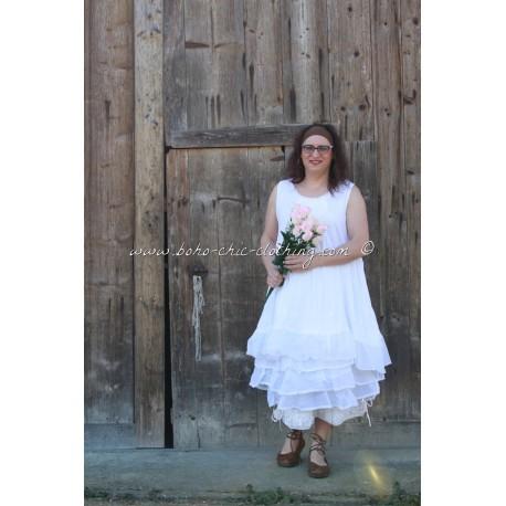 robe MARINE blanc