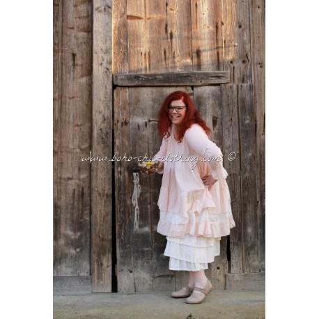 robe MALIE fleurs rose