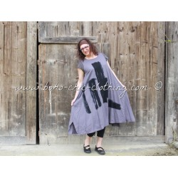 robe AYAME gris et noir