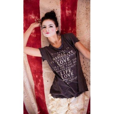 T-shirt Mad Love gris