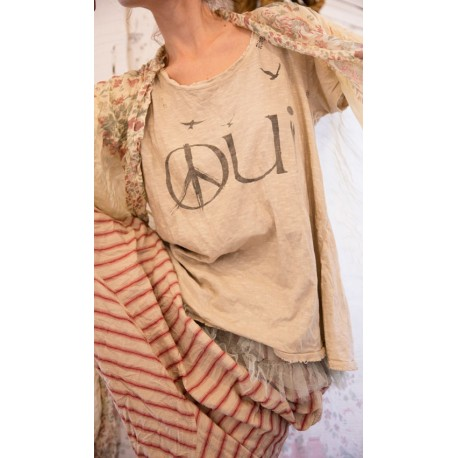 T-shirt Peace for Paris beige