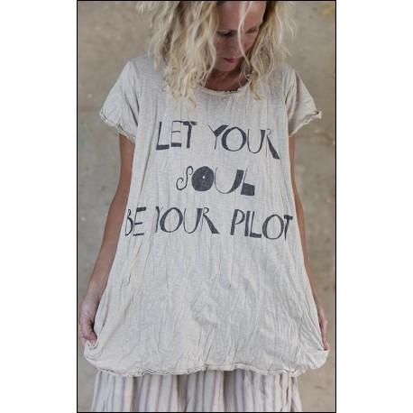 T-shirt Pilot T in Mink