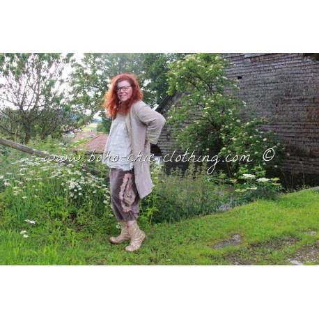 pantalon Pia en velours marron