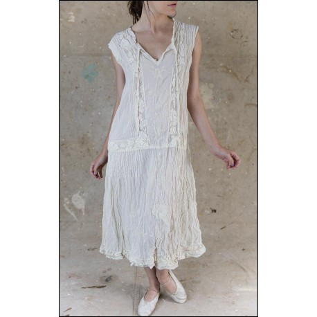 dress Evelien in Antique White
