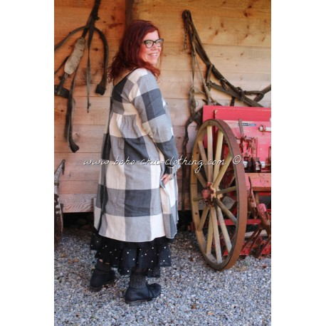 robe ROMIE drap de laine grands carreaux
