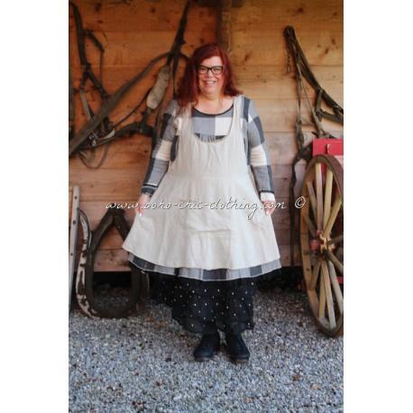 robe-tablier CATHERINE lin écru