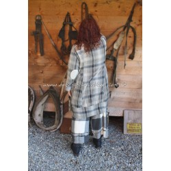 blouse FANETTE in checked veil