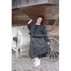 skirt AGLAE in black linen
