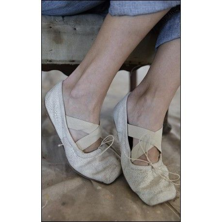 ballerines Stella Toe in Chalk