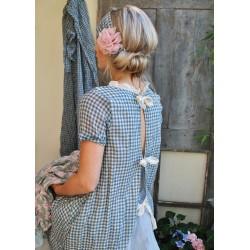 dress / apron YVETTE gingham cotton