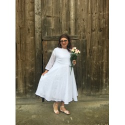 robe ANGELIQUE en coton blanc