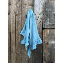 triangle scarf CATALINA blue linen