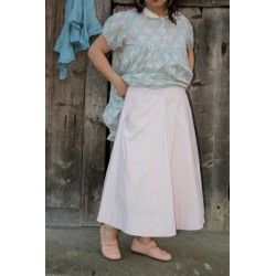skirt GENTIANE in pink taffeta