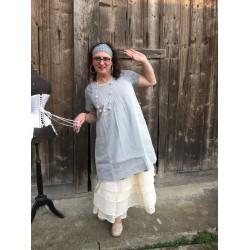 dress / apron MARTINE blue organza