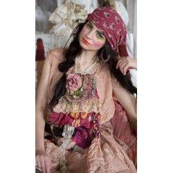 scarf Khadi in Iris Floral