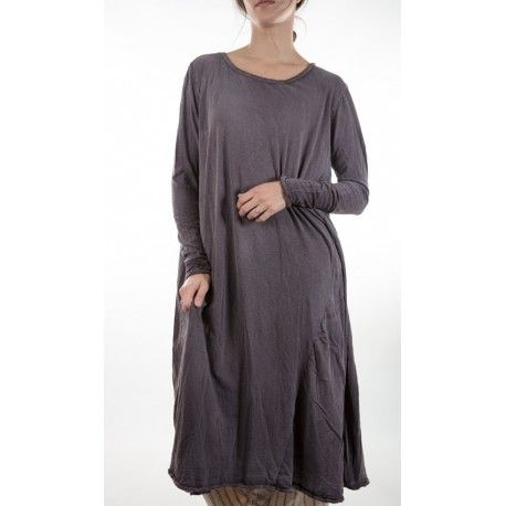 dress Babydoll with Long Sleeves in Black currant