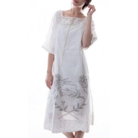 robe Bergie Rabbit in Antique White