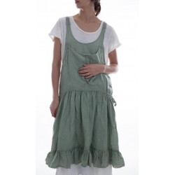 apron dress Augustina in Sea