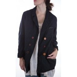 jacket Violet in Pinstripe