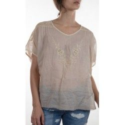 blouse Agnes in Antique White