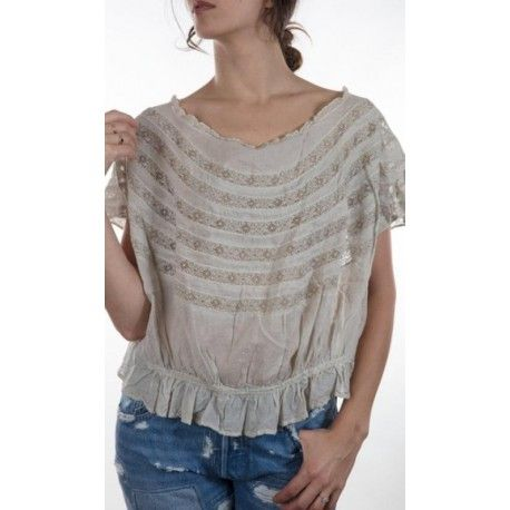 blouse Sloan in Fog