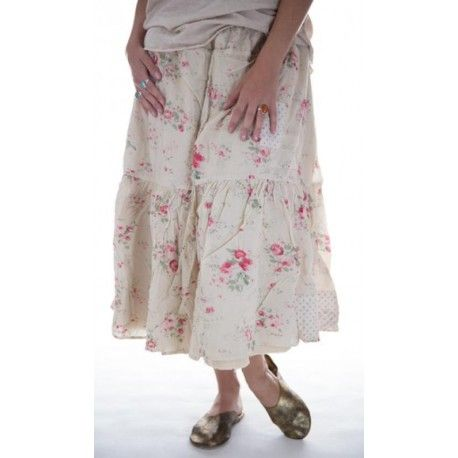 skirt Cecily in Raspberry Rose
