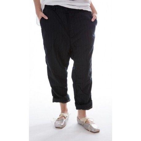 pantalon Violet in Pinstripe