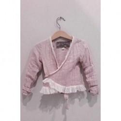 cache-cœur ALBAN KID linge bébé rose