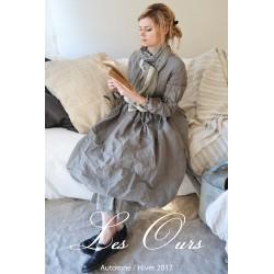 dress LYLY in grey cotton poplin