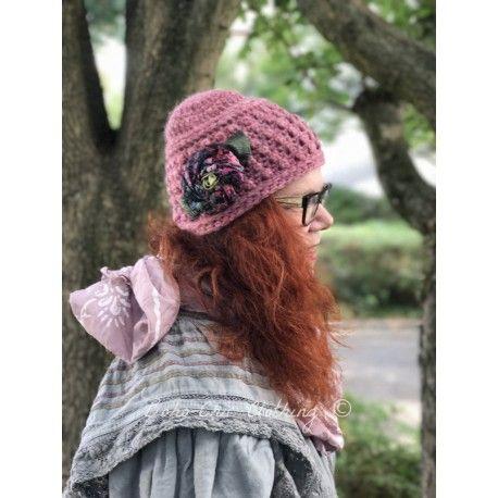 knit hat MARGARET in pink Grevi - 1