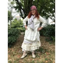 robe MAUD popeline de coton écru