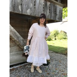 dress SUZANNE in pink linen