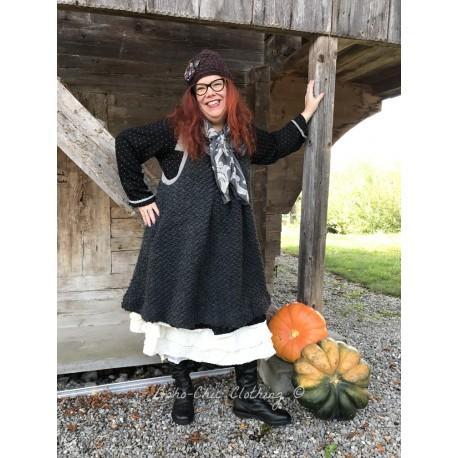 dress / tunic ELOISE in charcoal grey doudou