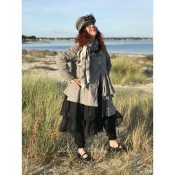 jacket ELISE in grey cotton poplin