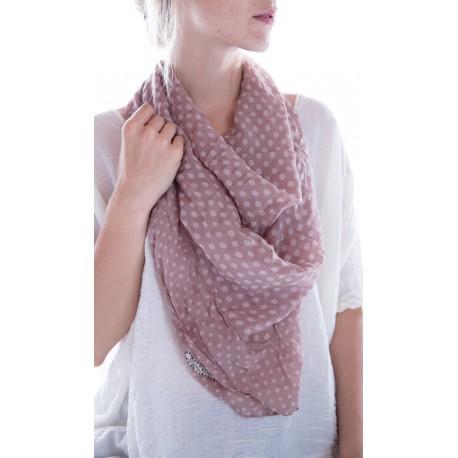 foulard Georgette Monet in Lila dot