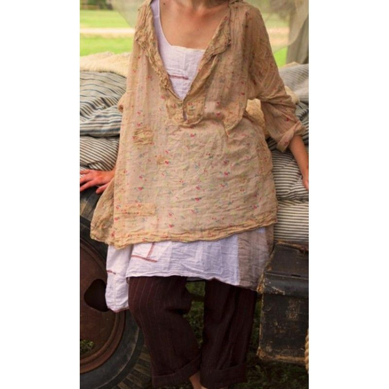 top Analina in Tea Stained Flour Sac Floral - Boho-Chic Clothing