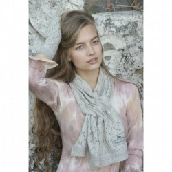 scarf Knitted in Light grey