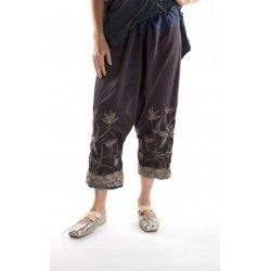 pantalon Joon Pongee in Ink Stone